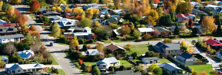 A New Zealand Town Scene In Autumn