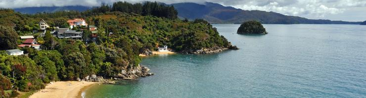 Houses in Abel Tasman National Park