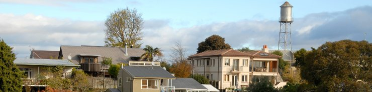 Houses on Bluff Hill, Napier