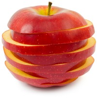 A sliced apple