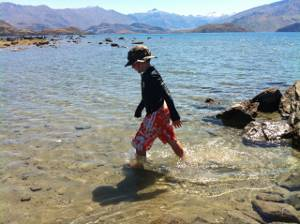 Paddling in Lake Wanaka