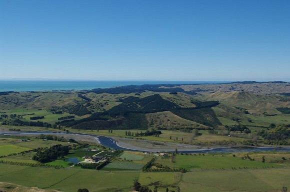The view from Te Mata Peak, Hawke's Bay